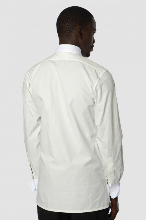 MAISON MARGIELA Double-Collar Formal White Shirt 1