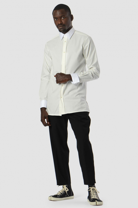 MAISON MARGIELA Double-Collar Formal White Shirt 4