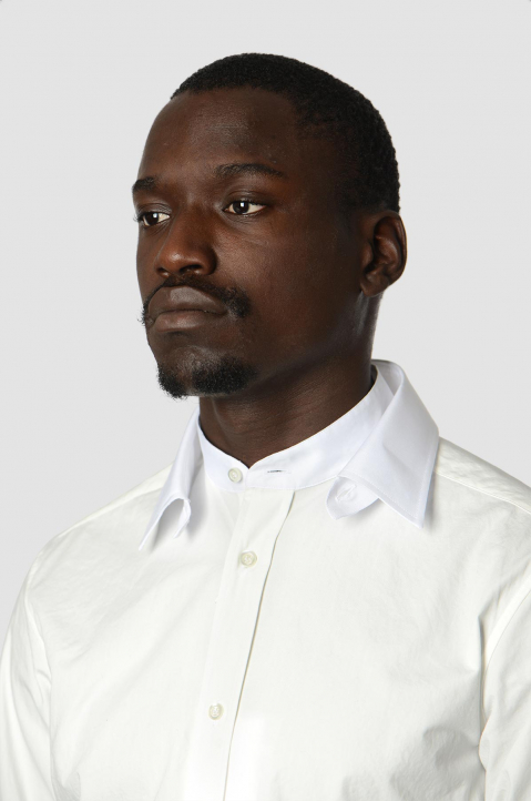 MAISON MARGIELA Double-Collar Formal White Shirt 2