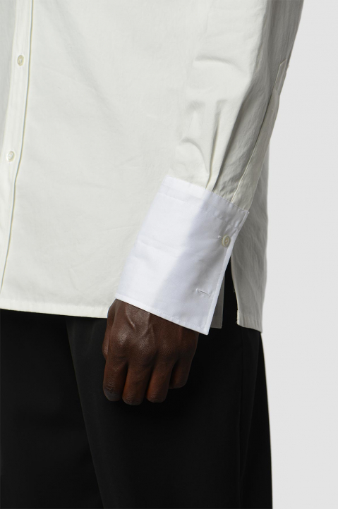 MAISON MARGIELA Double-Collar Formal White Shirt 3