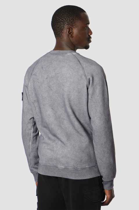 STONE ISLAND Grey Dust Color Sweatshirt  1