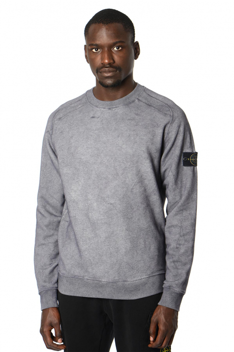 STONE ISLAND Grey Dust Color Sweatshirt  0