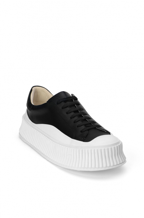 JIL SANDER Black/White Vulcanized Snakers 1