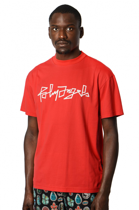 PALM ANGELS Desert Logo Red Tee 0