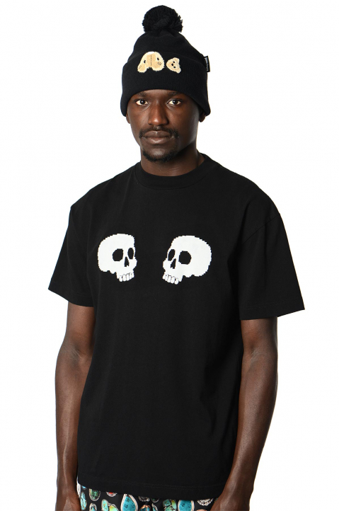 PALM ANGELS Skulls Black Tee 0