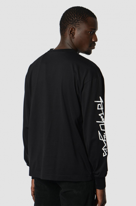 PALM ANGELS Desert Skull Black LS Tee 1