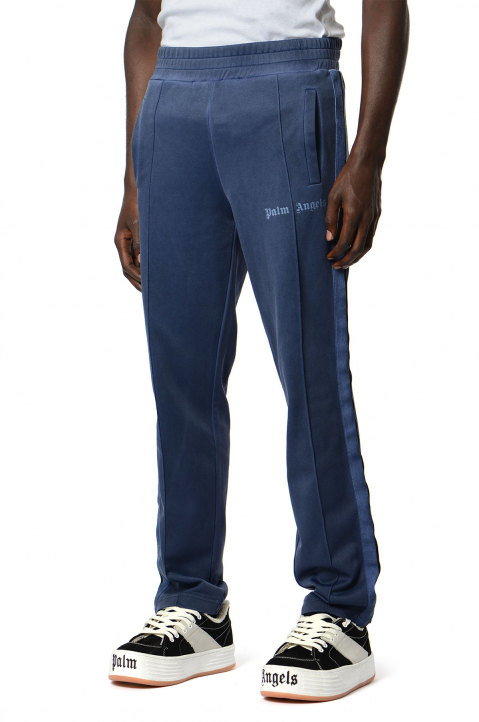 PALM ANGELS Dyed Blue Trackpants  0