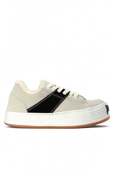 PALM ANGELS White Suede Snow Low Top Sneakers 0