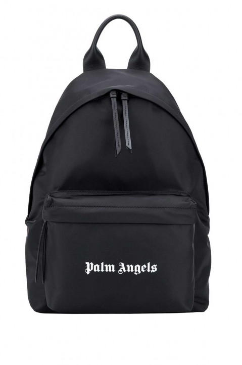PALM ANGELS Logo Black Backpack 0
