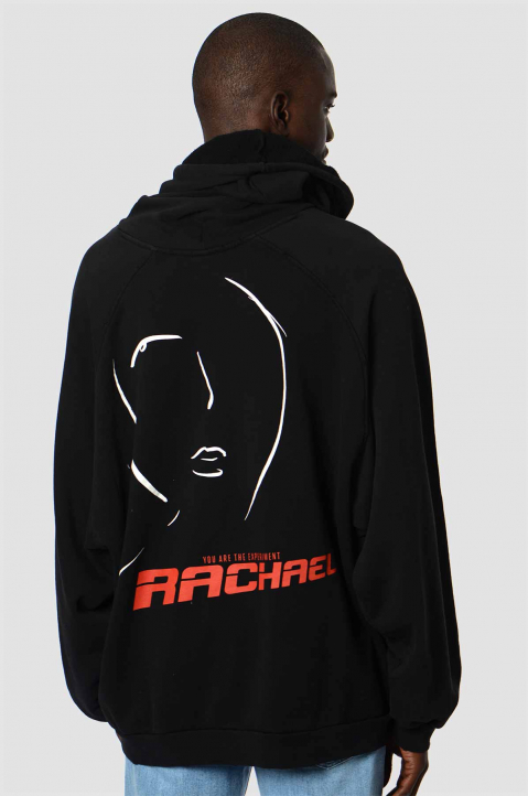 RAF SIMONS Life On Mars Oversized Black Hoodie 1