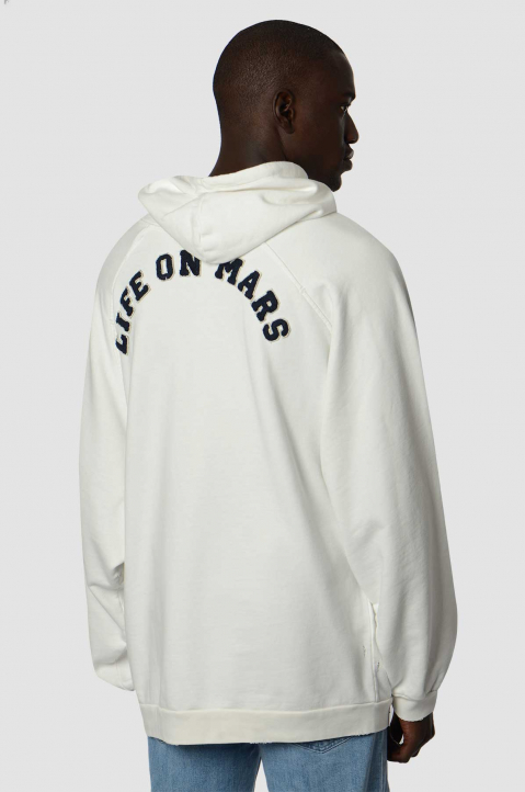 RAF SIMONS RS Oversized White Hoodie  1