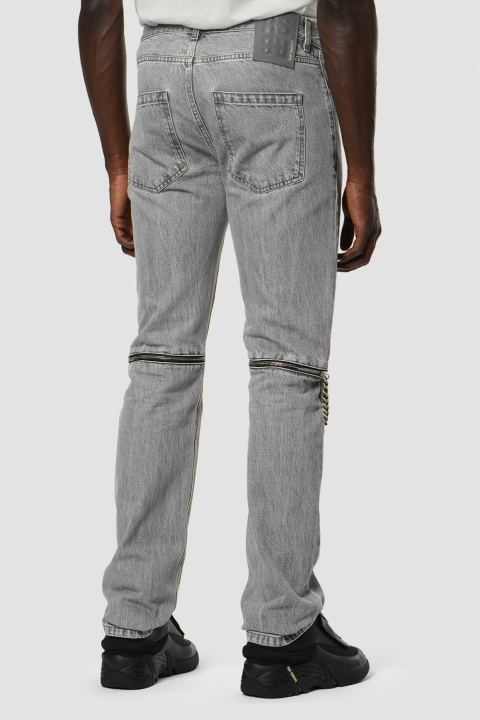 RAF SIMONS Zip Slim Grey Jeans 1