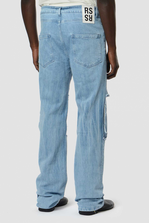RAF SIMONS Cut-Out Knee Jeans 1