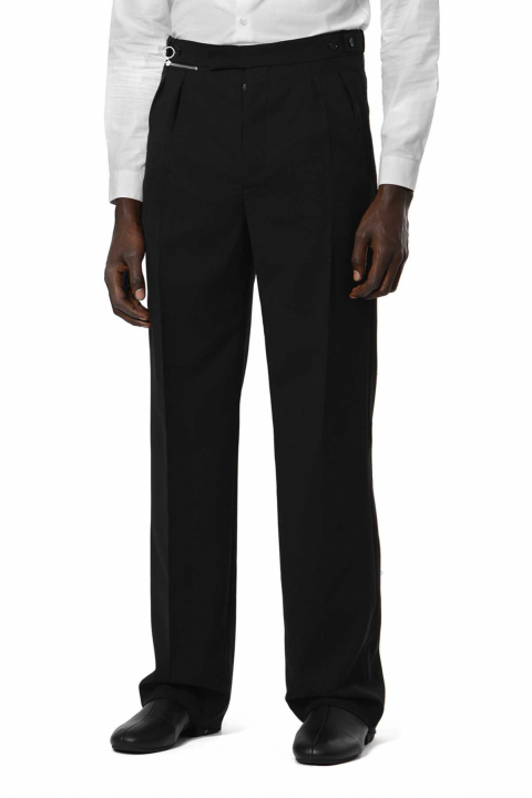 RAF SIMONS Wide Black Trousers  0