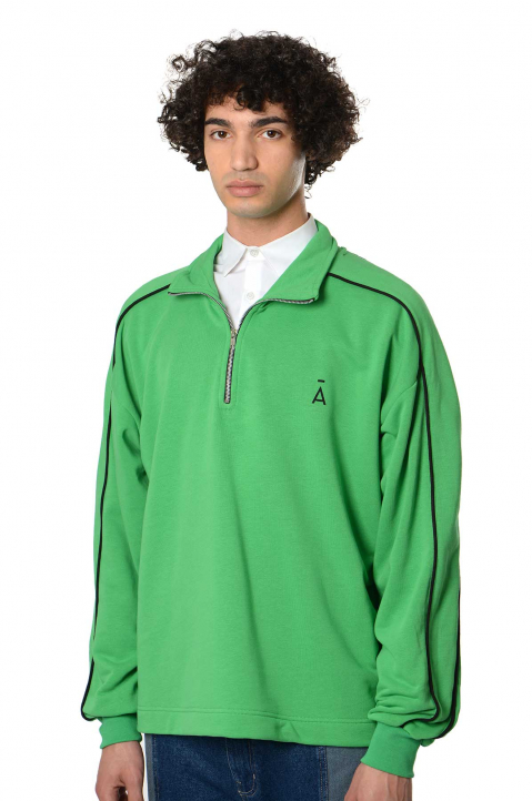 DAVID CATALÁN Zip Green Sweatshirt  0