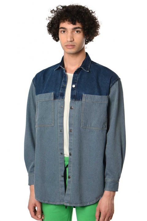 DAVID CATALÁN Duo-Denim Over Shirt 0