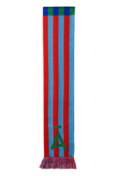 DAVID CATALÁN Red/Blue/Green Scarf 1