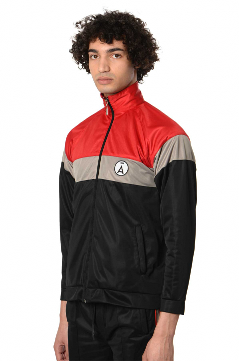 DAVID CATALÁN Black/Red Track Jacket  0