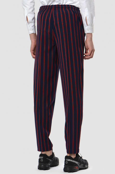 DAVID CATALÁN Striped Navy Track Trousers 1