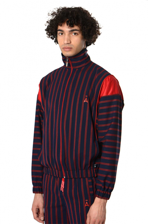 DAVID CATALÁN Striped Navy Track Jacket 0
