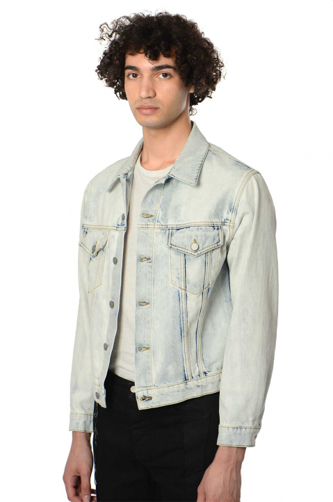 MAISON MARGIELA Acid White Denim Jacket  0
