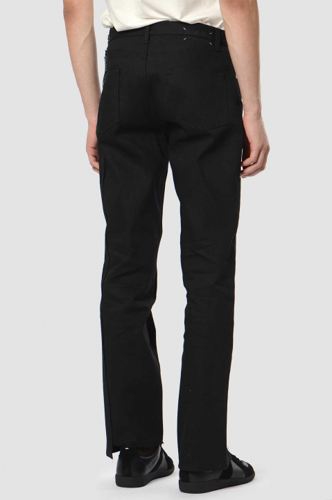 MAISON MARGIELA Deconstructed 5-Pocket Black Jeans  1