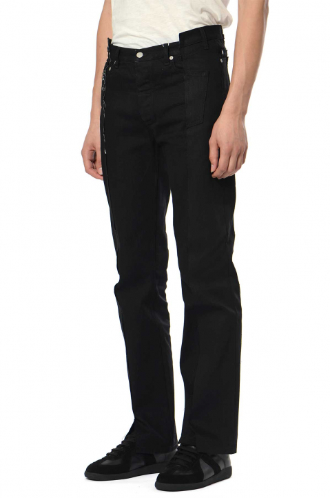 MAISON MARGIELA Deconstructed 5-Pocket Black Jeans  0