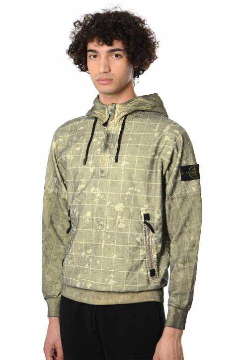 STONE ISLAND Dust Color With Ghillie Laser Camo Sweatshirt 0