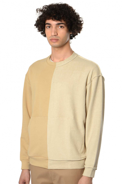 RITA SÁ Split Bi-Color Beige Sweatshirt 0