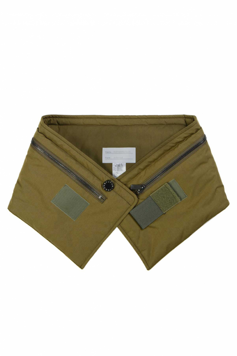 FUMITO GANRYU Hooded Khaki Neck Warmer 0