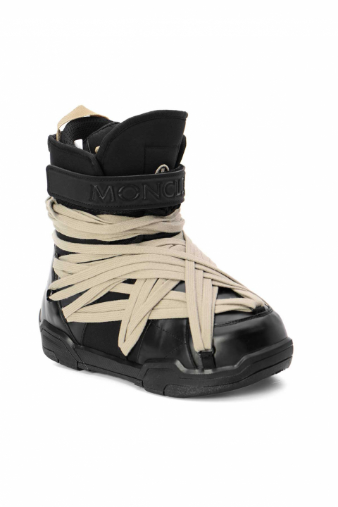 MONCLER X RICK OWENS Black Leather Boots 1