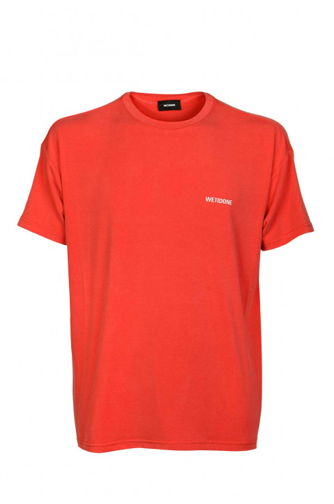 WE11DONE Red Modal T-shirt 0