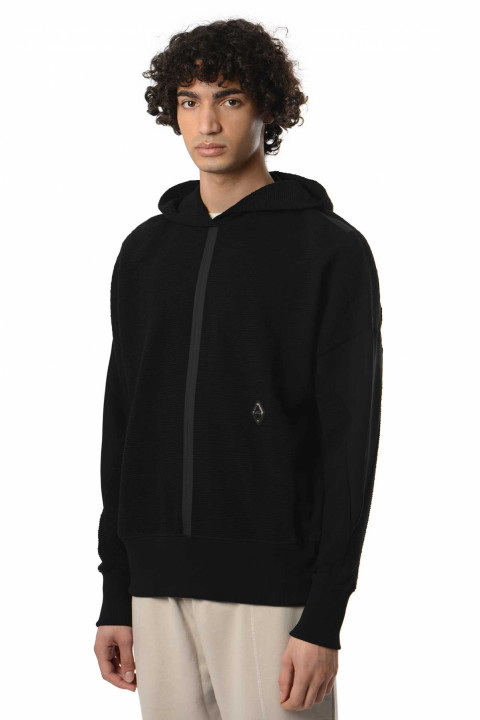 A-COLD-WALL* Black Knit Textured Hoody 0