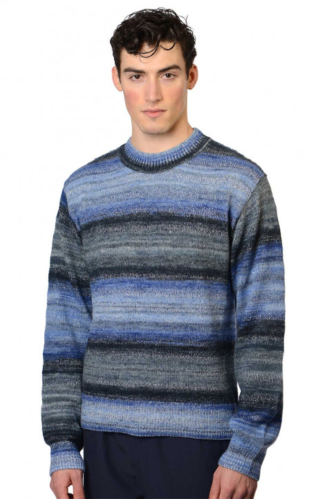 ACNE STUDIOS Striped Knit Blue Sweater 0