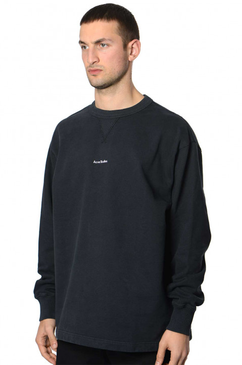 ACNE STUDIOS Logo Washed Out Black Sweatshirt 0