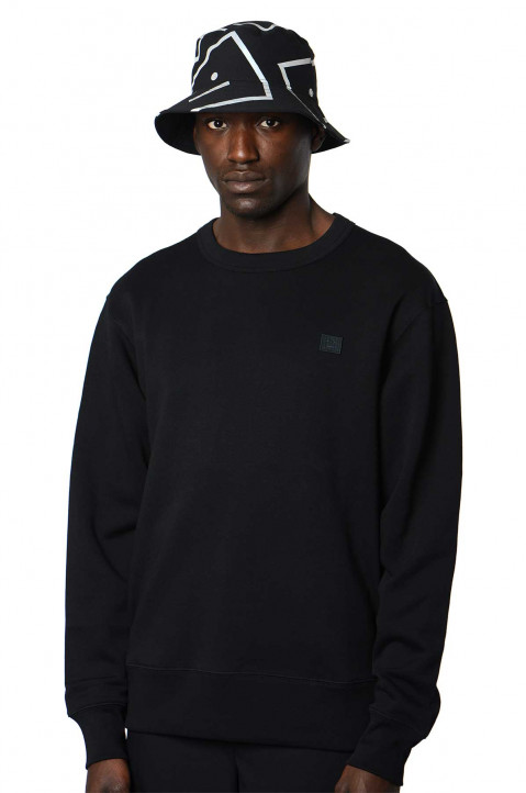 ACNE STUDIOS Fairview Face Black Sweatshirt  0
