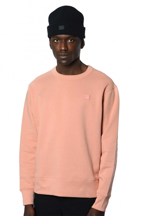 ACNE STUDIOS Fairview Face Pink Sweatshirt 0