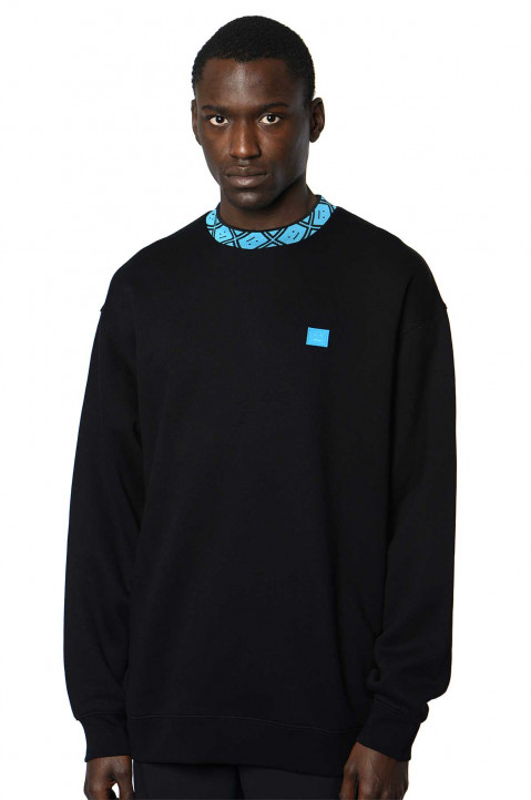 ACNE STUDIOS Logo Neck Black Sweatshirt  0