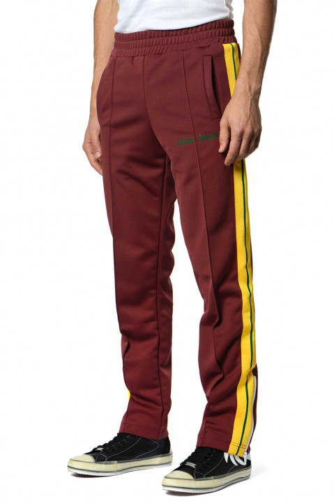 PALM ANGELS Burgundy w/ Yellow Stripe Trackpants 0