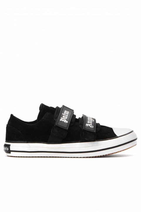 PALM ANGELS Velcro Strap Vulcanized Black Sneakers 0