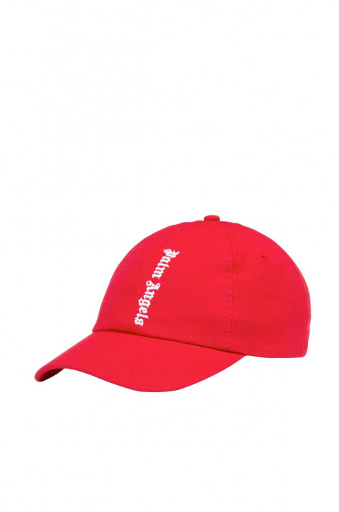 PALM ANGELS NS Logo Red Cap  0