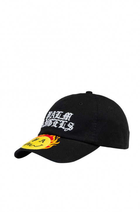 PALM ANGELS X SMILEY® Burning Head Black Cap 0