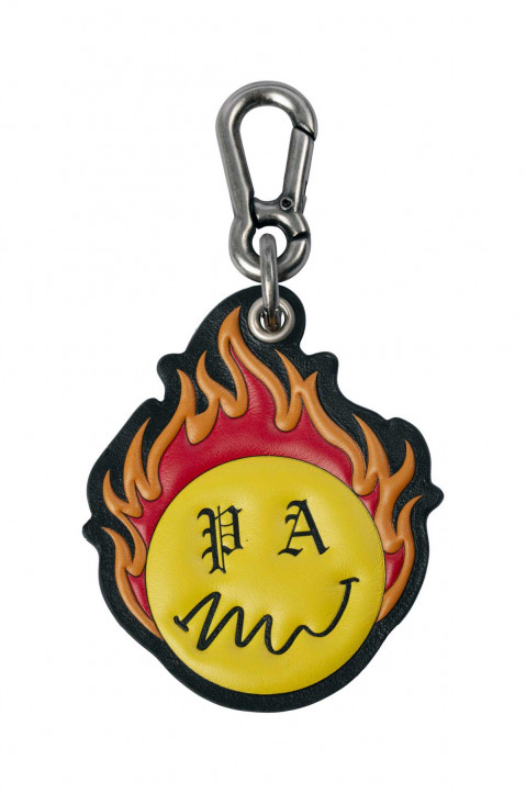 PALM ANGELS X SMILEY® Burning Head Key Chain 0