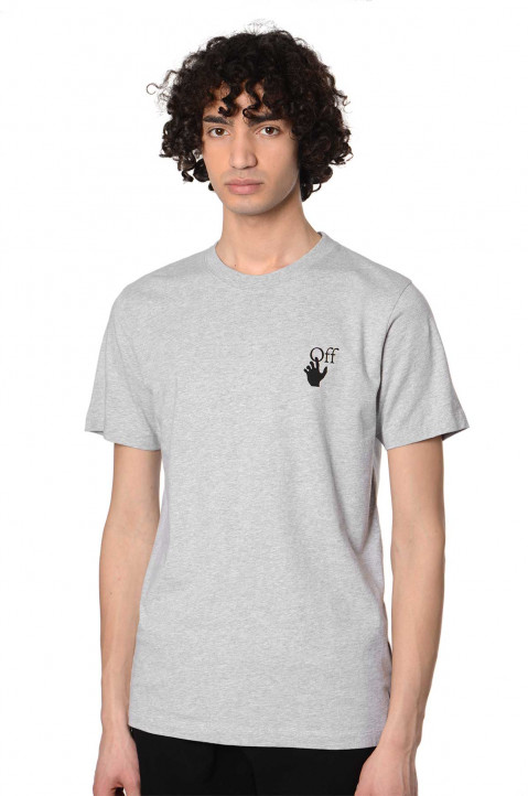 OFF-WHITE Marker Slim Grey Tee 0