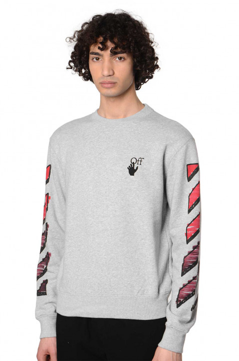OFF-WHITE Marker Arrows Slim Grey Sweatshirt  0