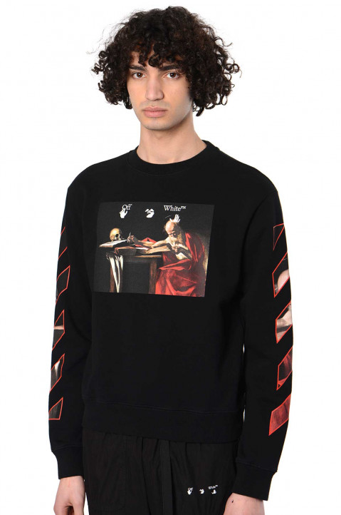 OFF-WHITE Caravaggio Slim Black Sweatshirt 0