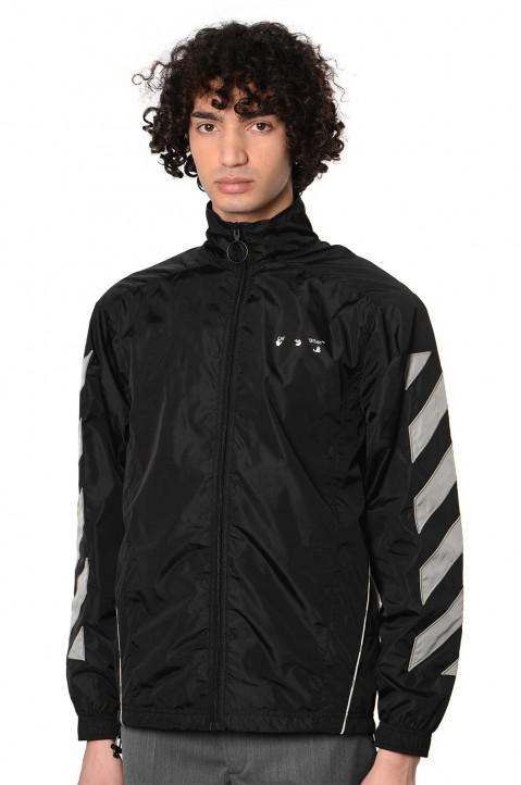 OFF-WHITE Diagonal Nylon Track Jacket  0
