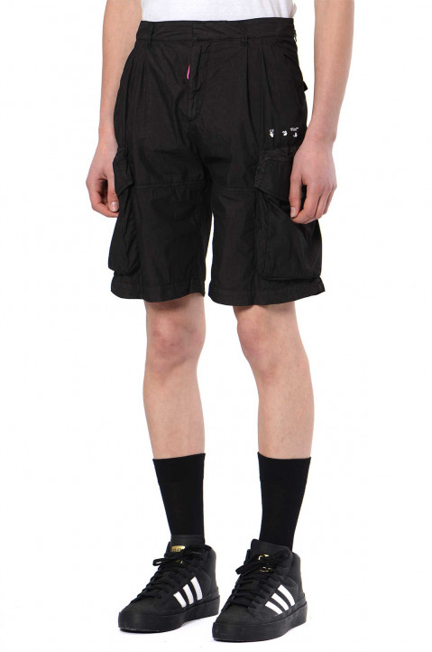 OFF-WHITE Logo Utility Black Shorts  0