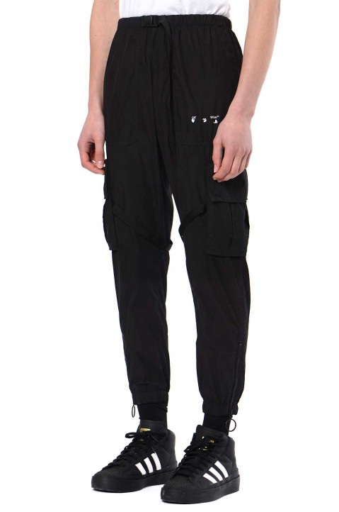 OFF-WHITE Logo Black Cargo Trousers 0