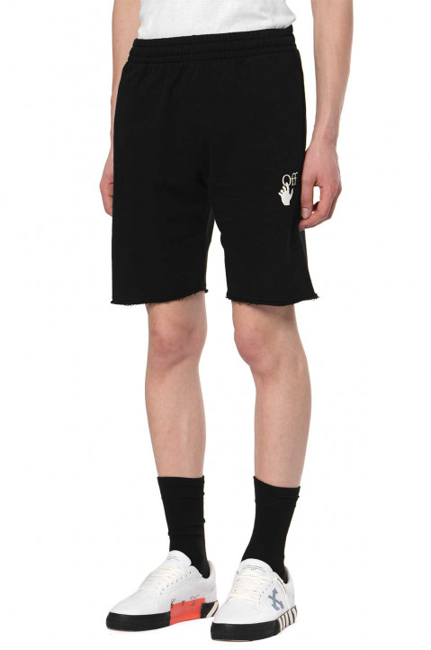 OFF-WHITE Marker Black Short Joggers 0